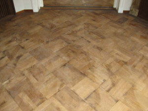 oude visgraat vloer