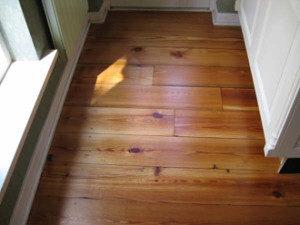 gerenoveerde houten vloer